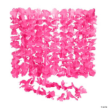 Hot Pink Flower Leis
