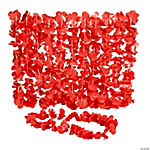 Red Flower Leis