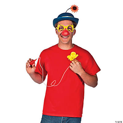 Carnival Clown Hat & Glasses Kit with Flower