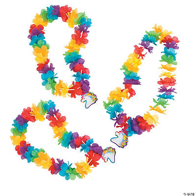 Rainbow Leis with Unicorn