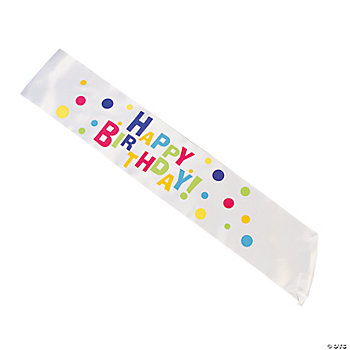 Everyday Birthday Party Sash