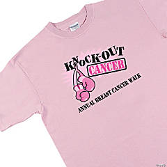Personalized Sassy Pink Ribbon T-Shirts - Large