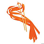 Orange Ribbon Wands