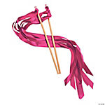 Hot Pink Ribbon Wands