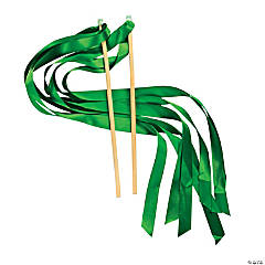 Green Ribbon Wands