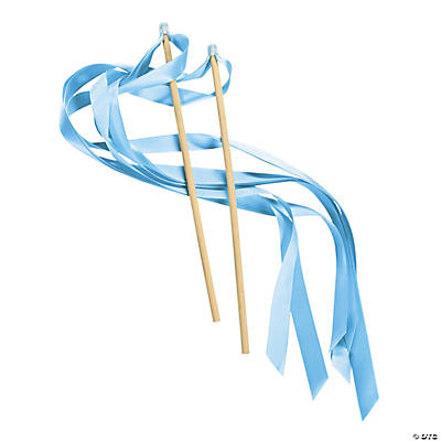 Light Blue Ribbon Wands