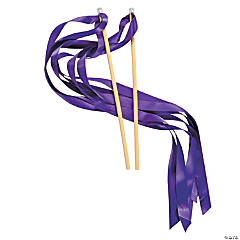 Purple Ribbon Wands