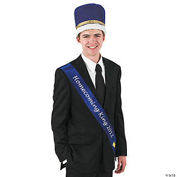 "Blue ""Homecoming King 2012"" Sash"
