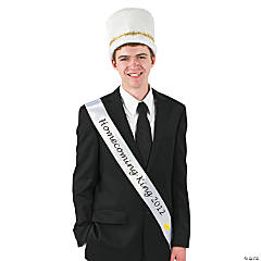 "White ""Homecoming King 2012"" Sash"