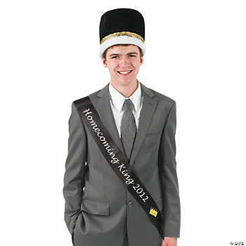 "Black ""Homecoming King 2012"" Sash"