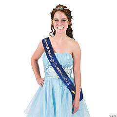 "Blue ""Homecoming Queen 2012"" Sash"