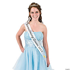 "White ""Homecoming Queen 2012"" Sash"