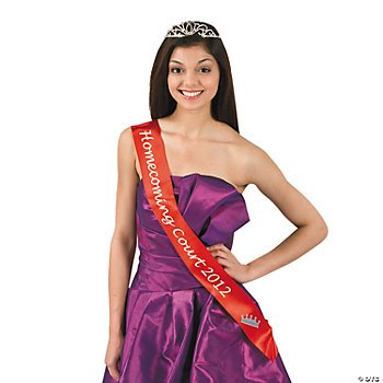 "Red ""Homecoming Court 2012"" Sash"