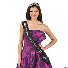 "Black ""Homecoming Court 2012"" Sash"
