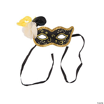 Gold & Black Masks For New Year