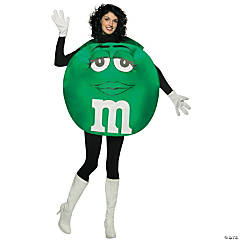 Green M&M Adult Women's Costume