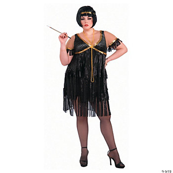 Flapper Adult Women's Plus Size Costume