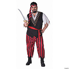 Plus Size Pirate With Sash Adult Men's Costume