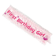 """1st Birthday Girl"" Sash"