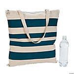 Nautical Stripe Tote with Anchor