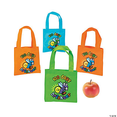 100th Day of School Brighter Totes