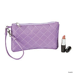 Purple Quilted Wristlet Purse