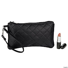Black Quilted Wristlet Purse