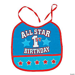 """All Star 1st Birthday"" Bib"