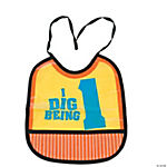 Construction I Dig Being 1 First Birthday Bib