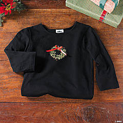 Christmas Wreath Knit Top - Small