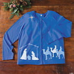 XXX-Large Nativity Scene Cardigan