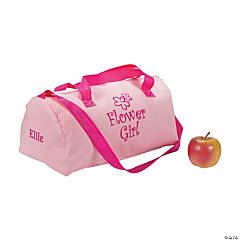 "Personalized ""Flower Girl"" Duffel Bag"