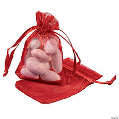 Romantic Rose Mini Organza Bags