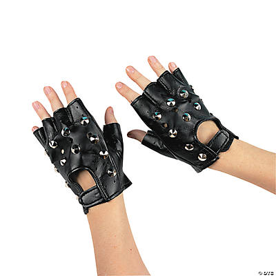 Rock Star Studded Fingerless Gloves
