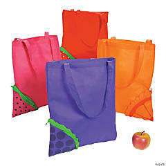 Poly Non-woven Pop-Out Fruit Tote Bags