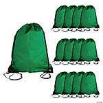 Medium Drawstring Backpacks — Green