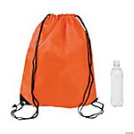 Medium Drawstring Backpacks - Orange