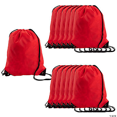 Medium Drawstring Backpacks - Red
