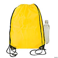 Medium Drawstring Backpacks — Yellow