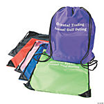 Personalized Small Drawstring Backpacks - Assortment