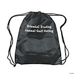 Small Personalized Drawstring Backpacks - Black