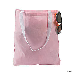 Medium Light Pink Tote Bags