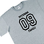Personalized Team Grey T-Shirt — Adult Small (34-36)