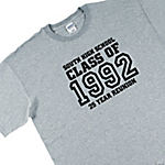 "Personalized ""Class Of"" Grey T-Shirt — Adult Small (34-36)"