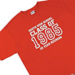 "Personalized ""Class Of"" Red T-Shirt — Youth Medium (10-12)"
