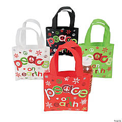 "Small ""Peace On Earth"" Totes"