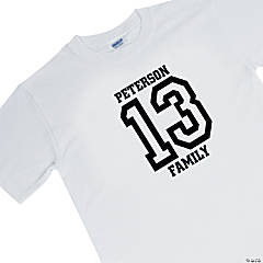Personalized Team White T-Shirt — Youth Medium (10-12)