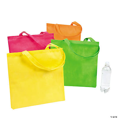 Large Nonwoven Neon Tote Bags