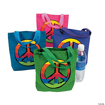 Peace Sign Tote Bags
