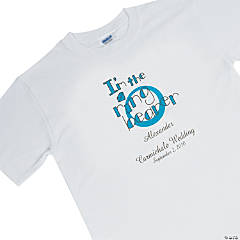 Personalized Ring Bearer White T-Shirt - Youth Medium (10-12)